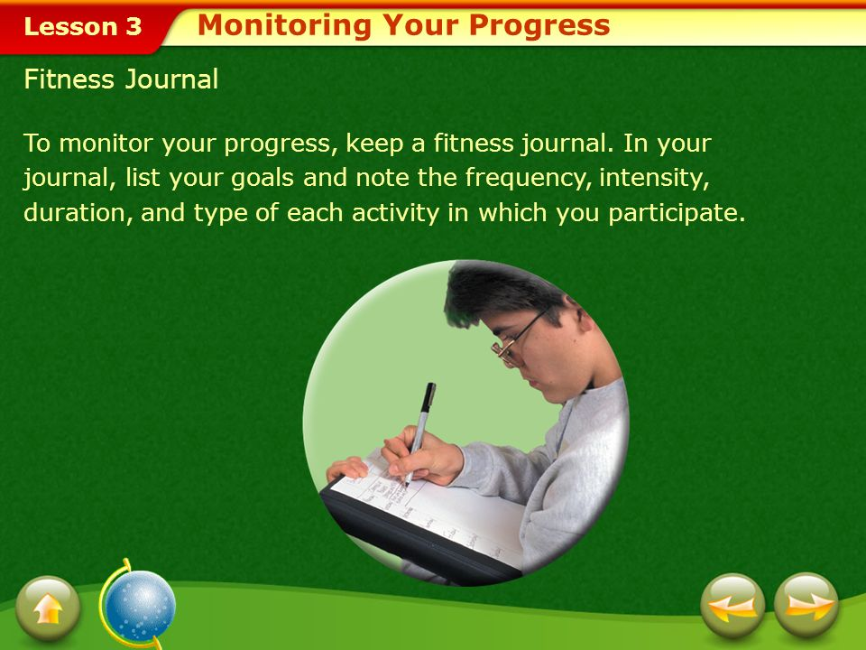 Monitoring Your Progress