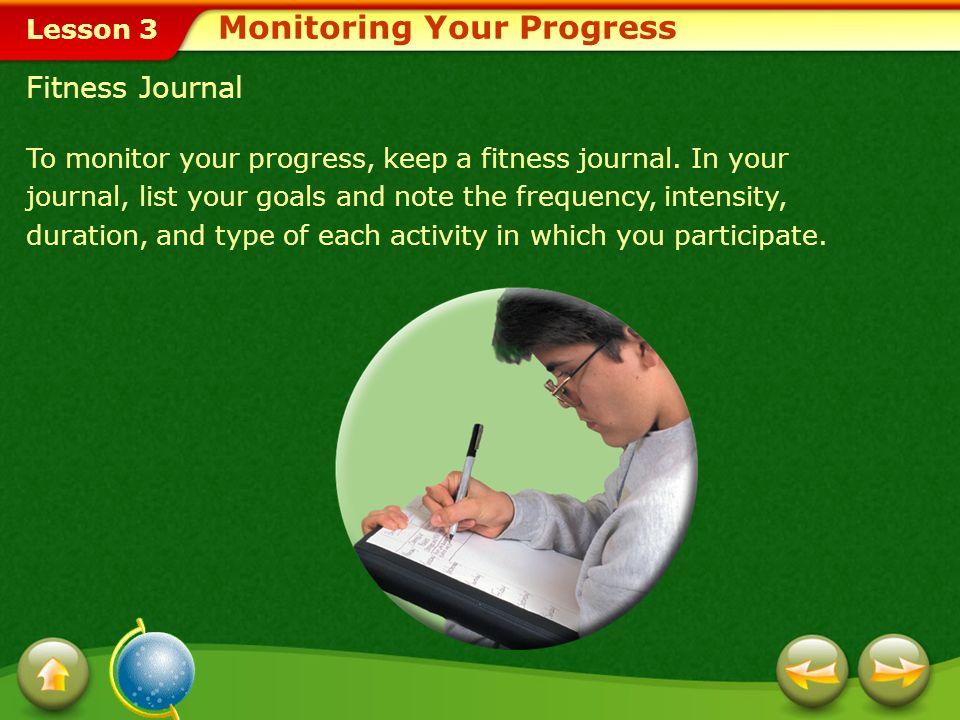 Monitoring Your Progress