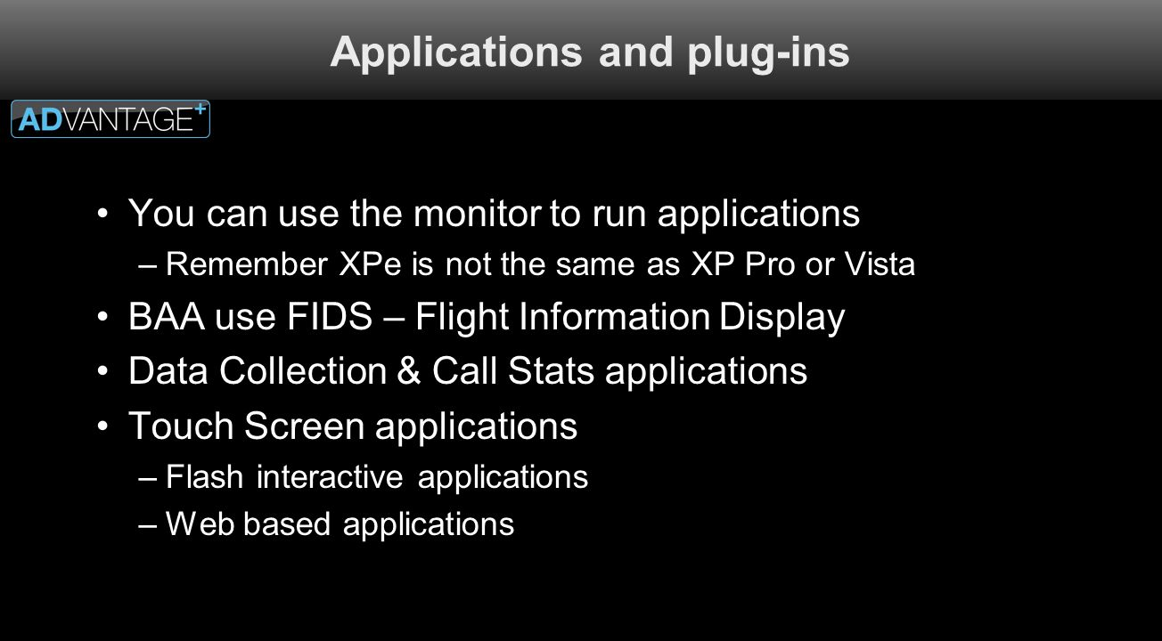 Applications and plug-ins
