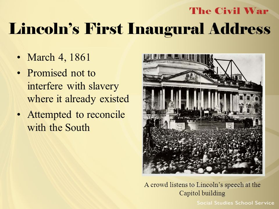 from lincoln s first inaugural address