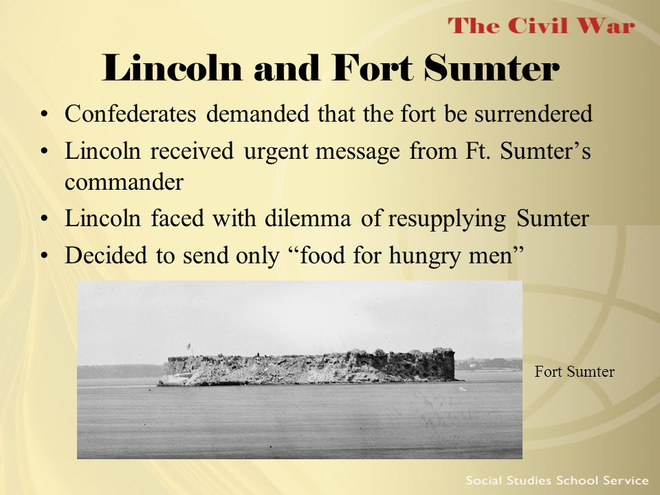 Lincoln and Fort Sumter
