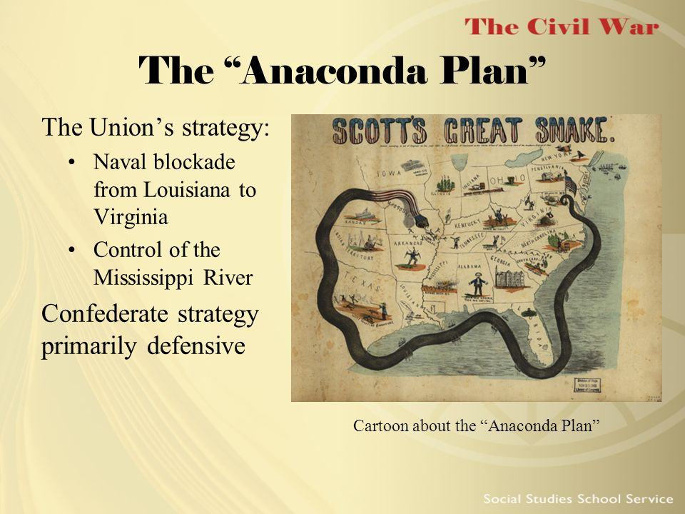 Cartoon about the Anaconda Plan