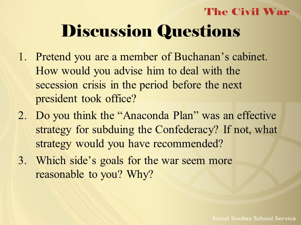 A discussion on the aggression of the north and defensiveness of the south in the civil war