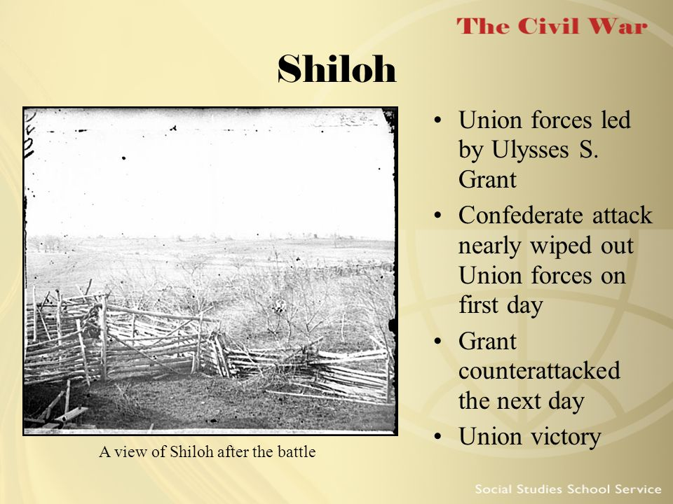 A view of Shiloh after the battle