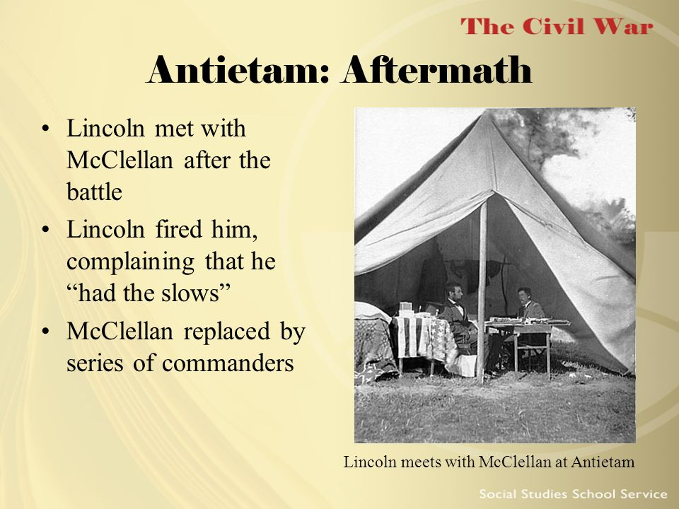 Lincoln meets with McClellan at Antietam