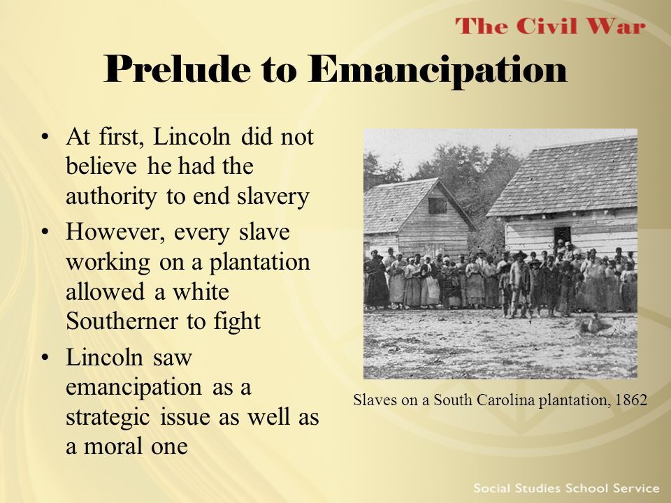 Prelude to Emancipation