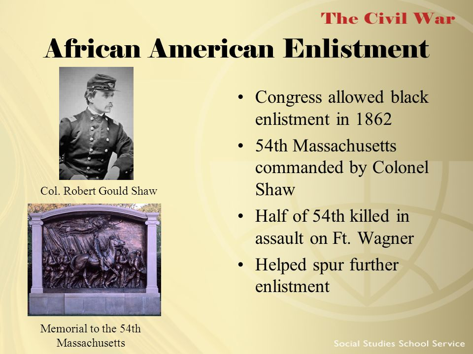African American Enlistment