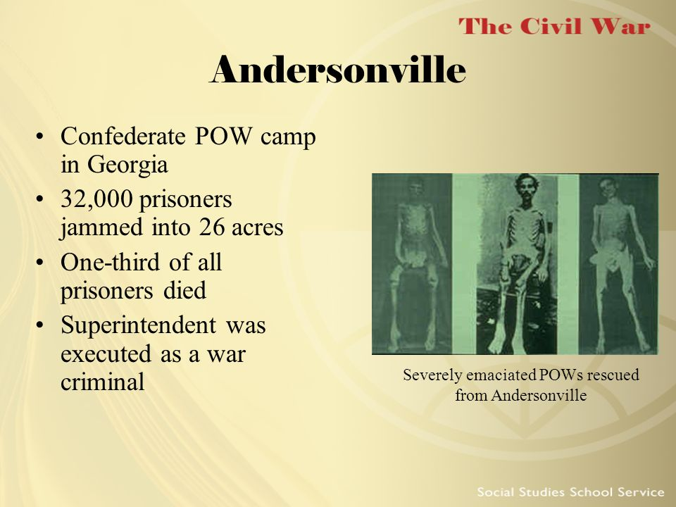 Severely emaciated POWs rescued from Andersonville