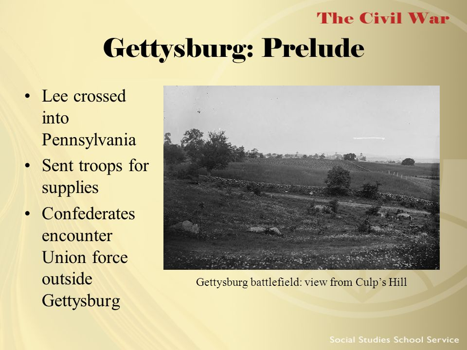 Gettysburg battlefield: view from Culp's Hill