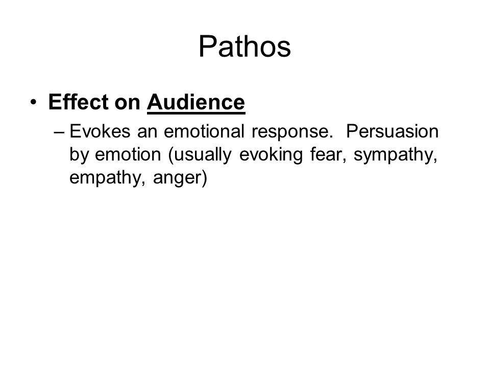 Pathos Effect on Audience