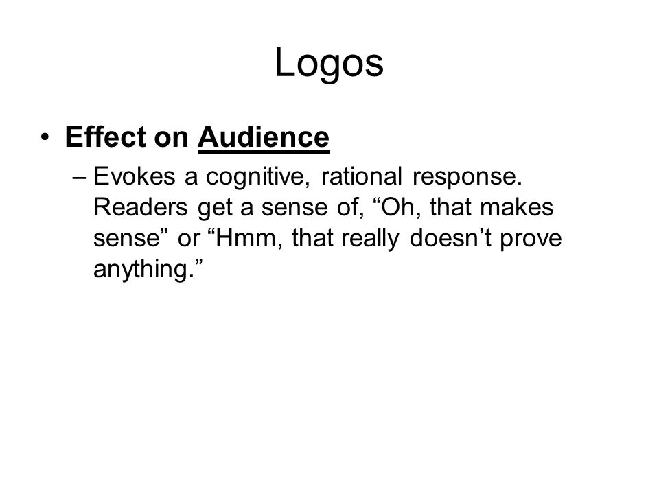 Logos Effect on Audience