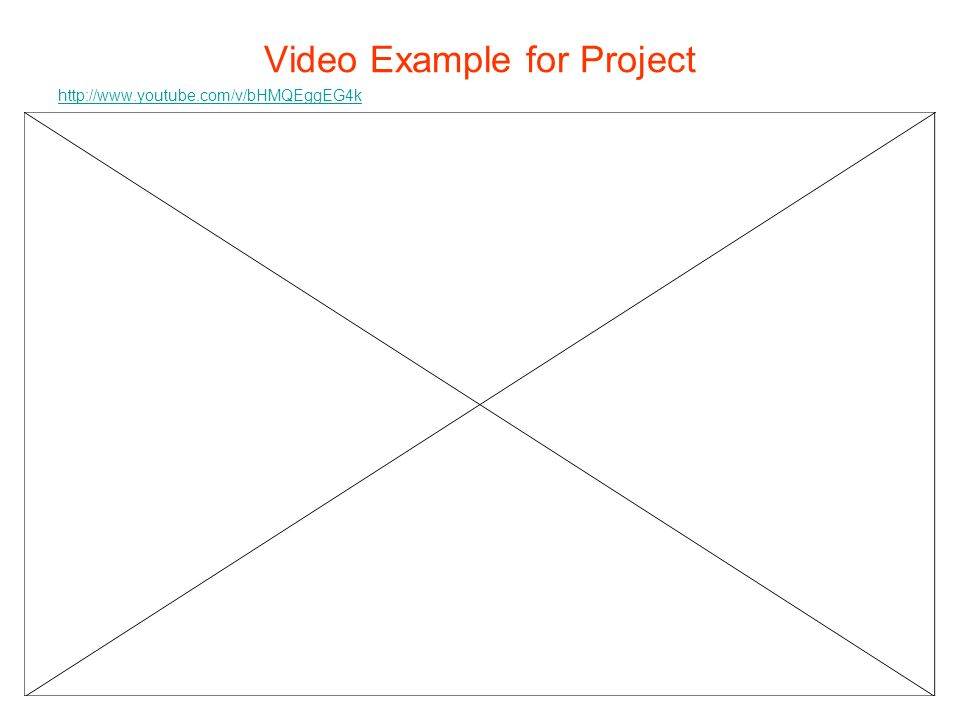 Video Example for Project