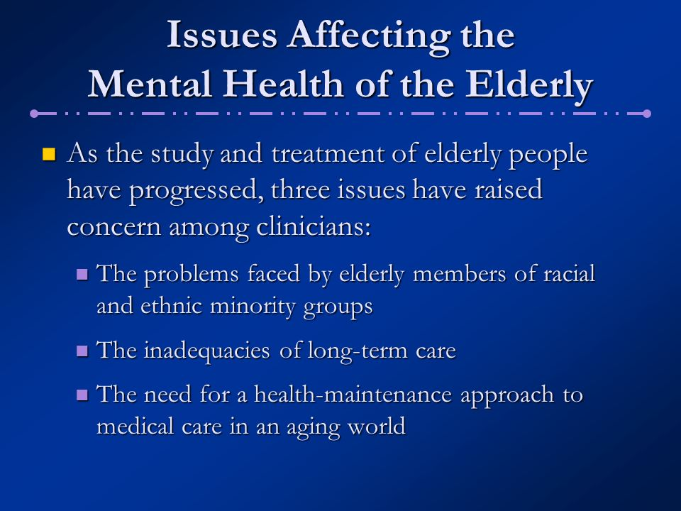 issues effecting the elderly Effects of life transitions on the elderly - explore from the merck manuals - medical professional version not found social issues in the elderly.