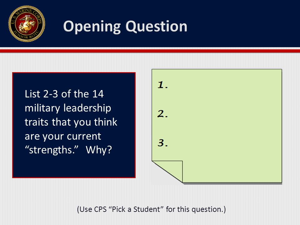 (Use CPS Pick a Student for this question.)