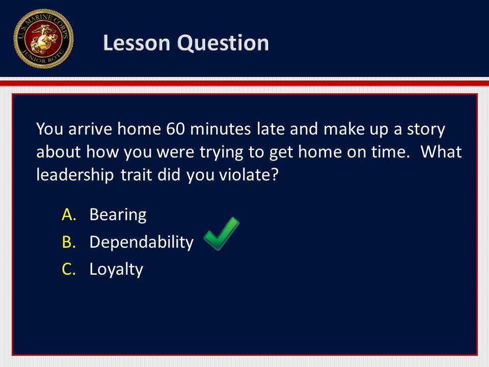 Lesson Question