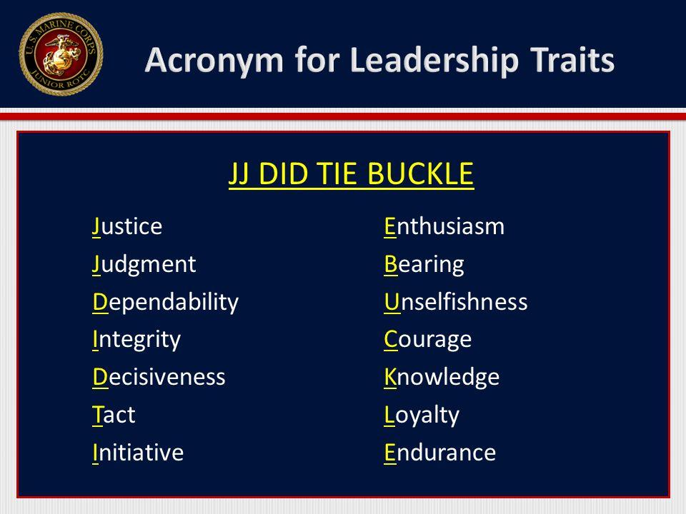 Acronym for Leadership Traits