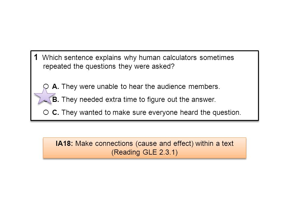 1 Which sentence explains why human calculators sometimes