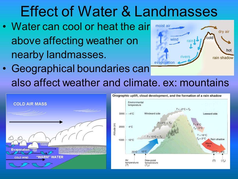 Effect of Water & Landmasses