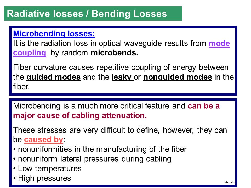 bending loss in optical fiber pdf