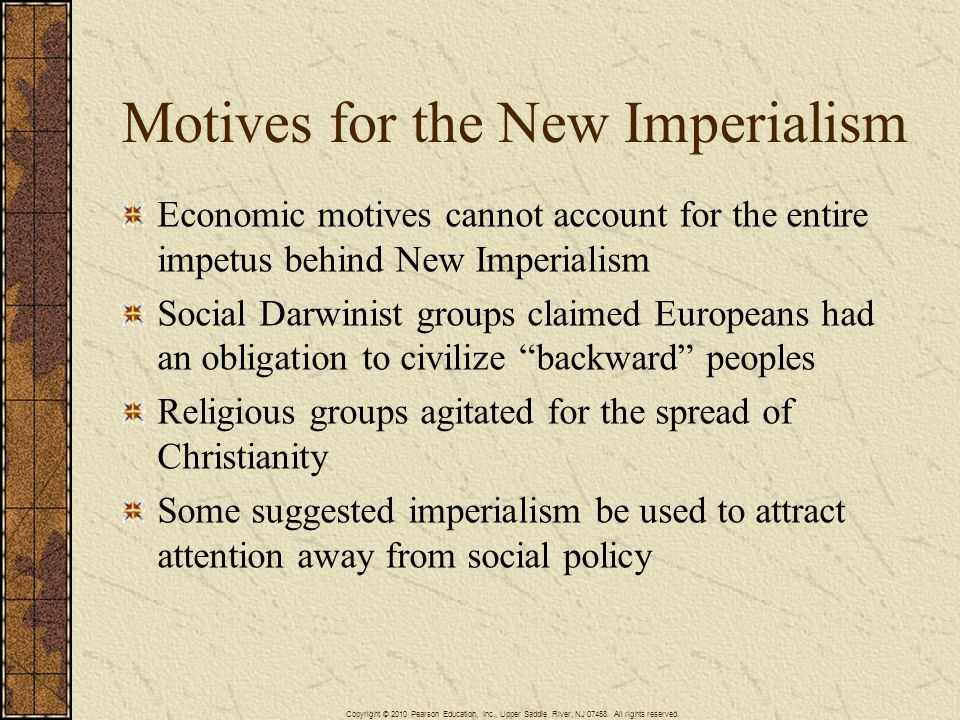 Motives for the New Imperialism