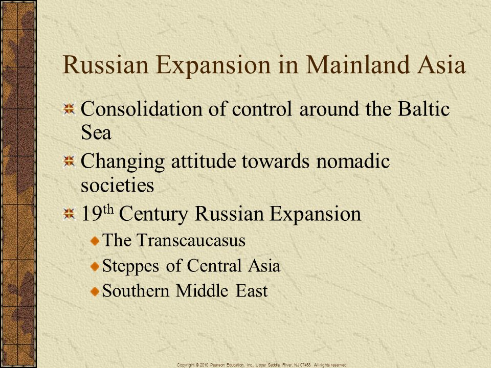 Russian Expansion in Mainland Asia