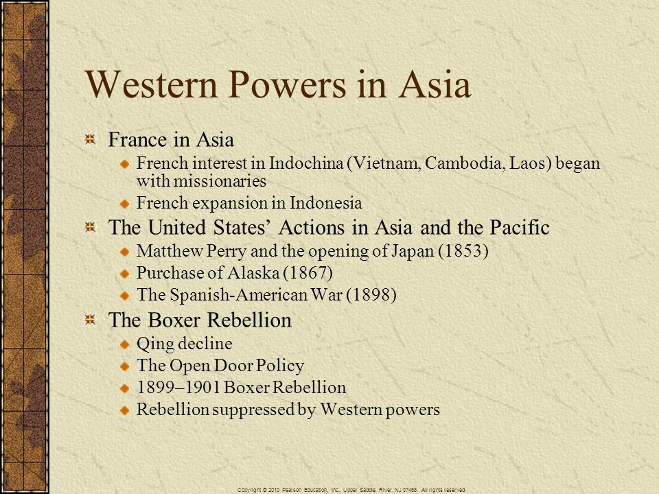 Western Powers in Asia France in Asia