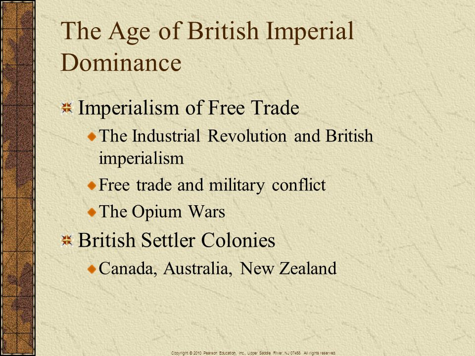 The Age of British Imperial Dominance