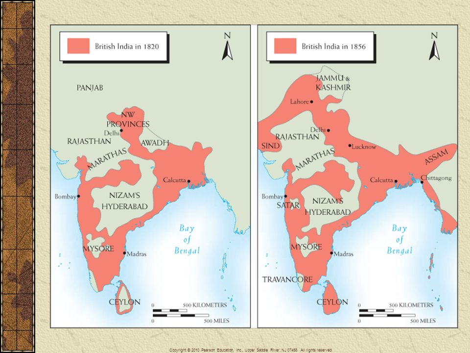 Map 25–1 BRITISH INDIA, 1820 AND 1856.