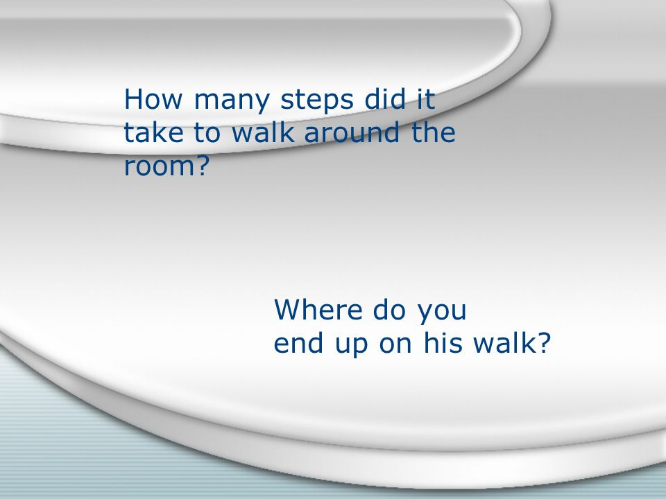 How many steps did it take to walk around the room