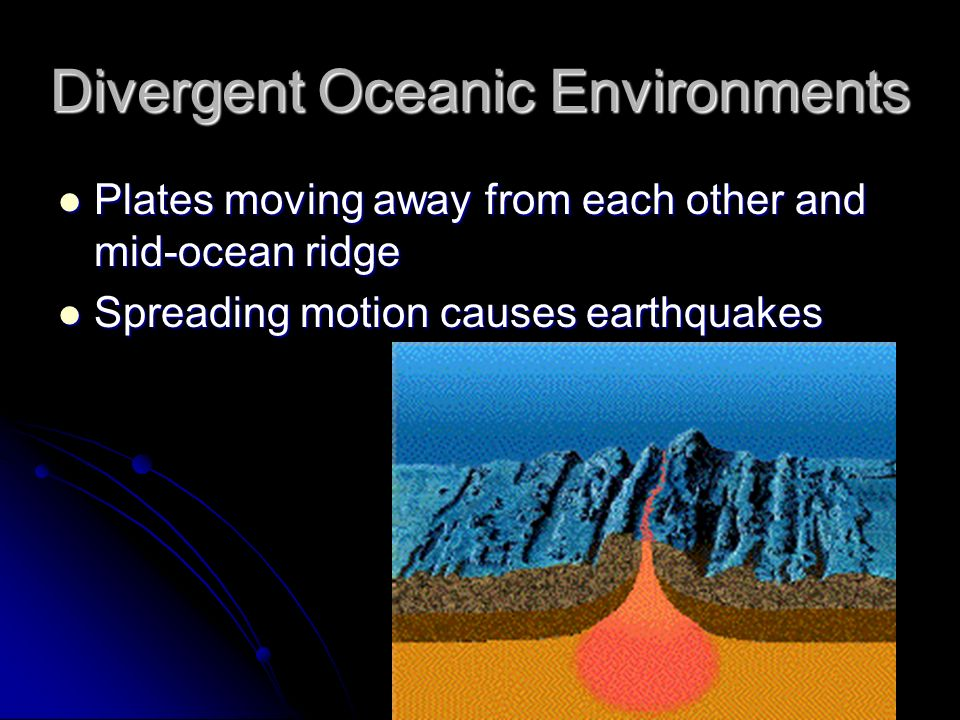 Divergent Oceanic Environments