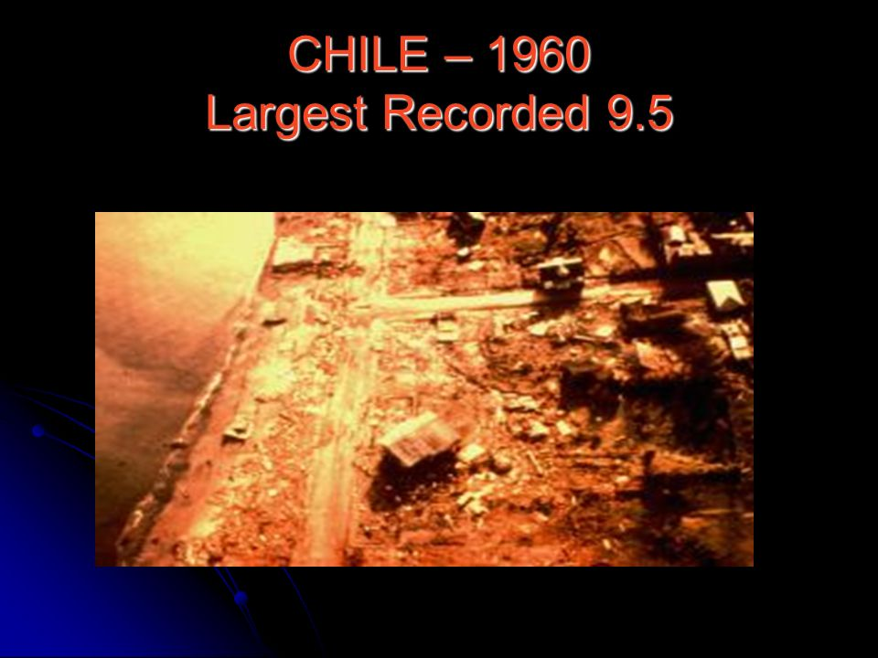 CHILE – 1960 Largest Recorded 9.5