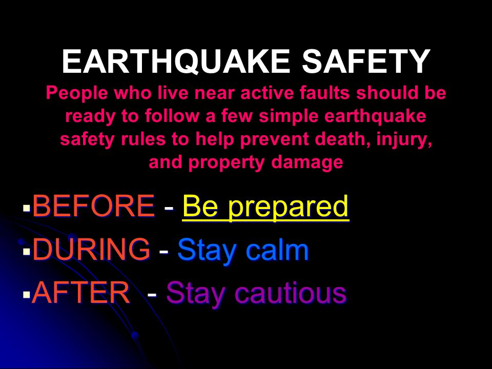 how to stay safe during earthquake in an apartment