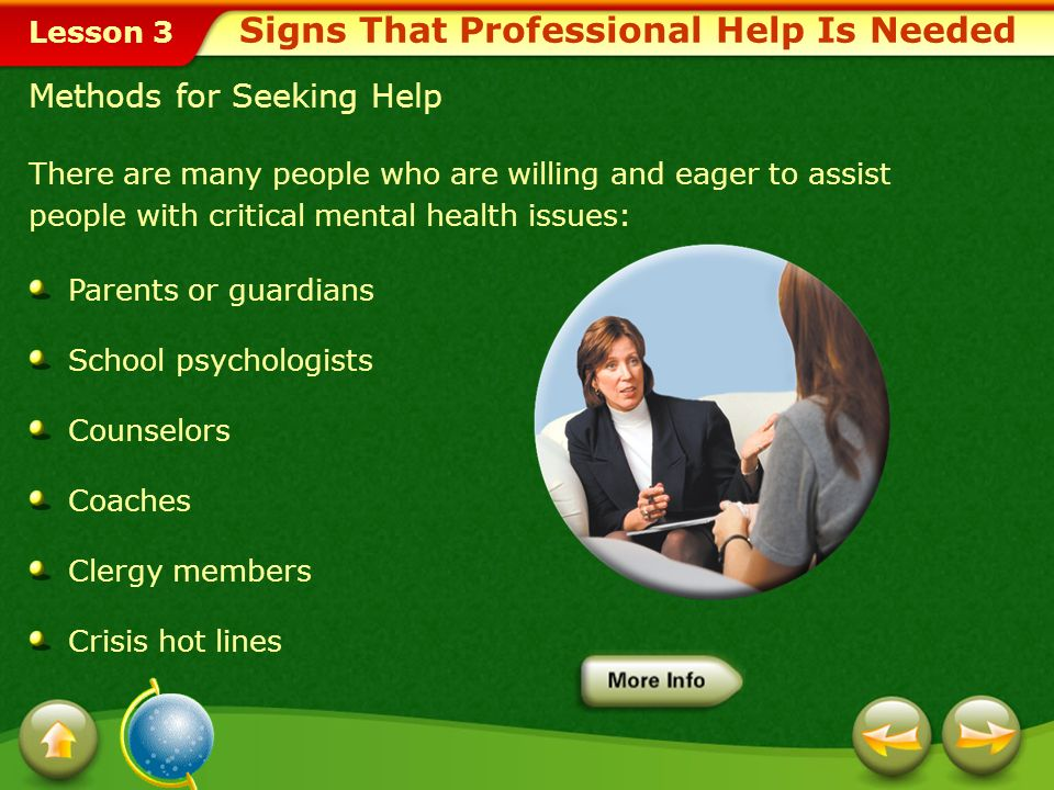 Signs That Professional Help Is Needed