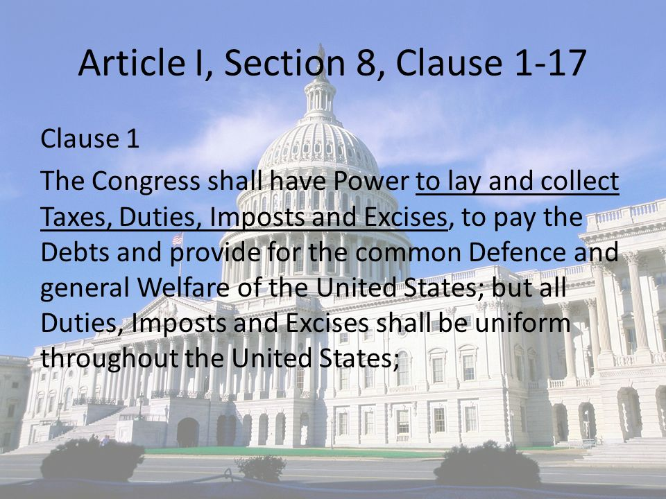 article 1 section 8 clause 8