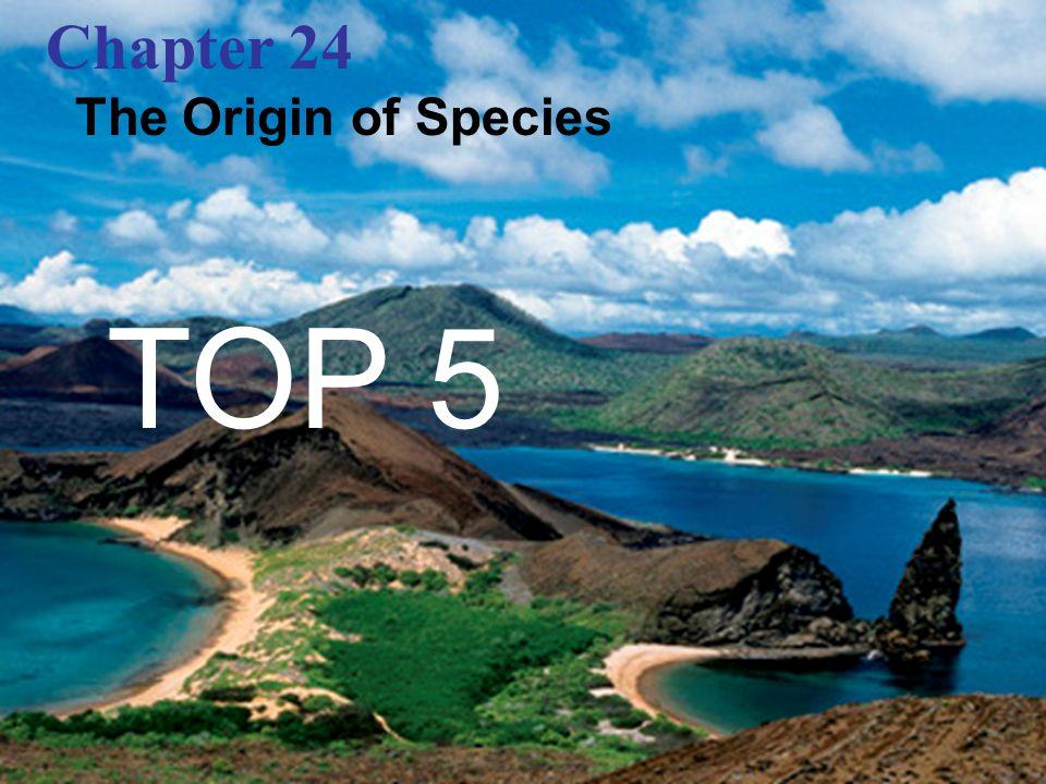 Chapter 24 The Origin of Species TOP 5