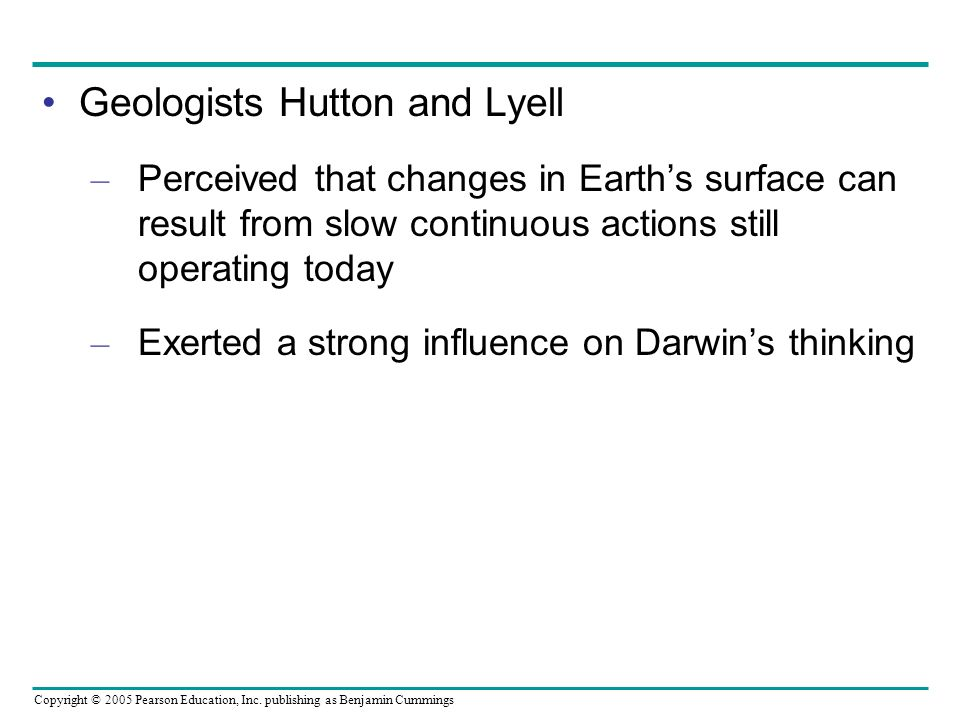 Geologists Hutton and Lyell