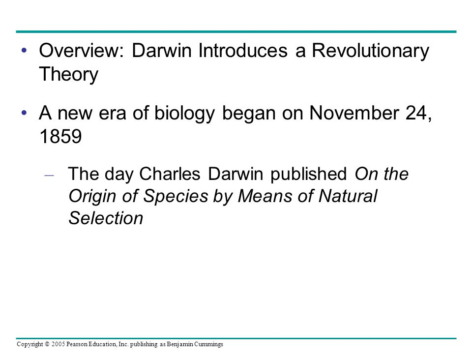 Overview: Darwin Introduces a Revolutionary Theory