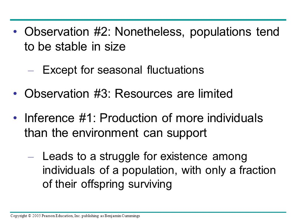 Observation #2: Nonetheless, populations tend to be stable in size