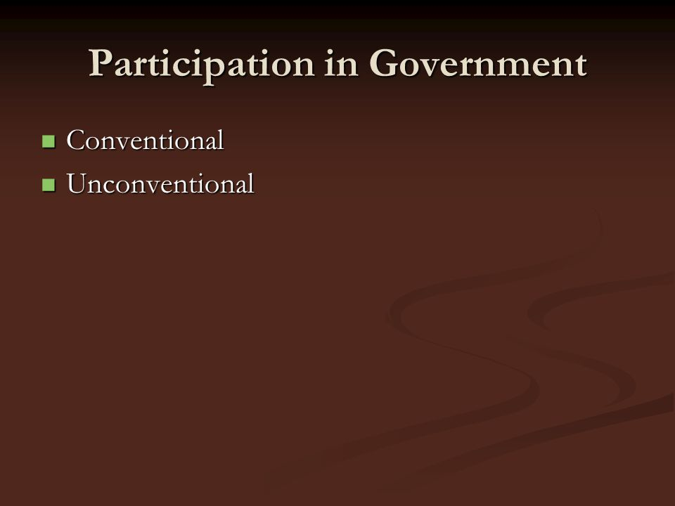 Participation in Government