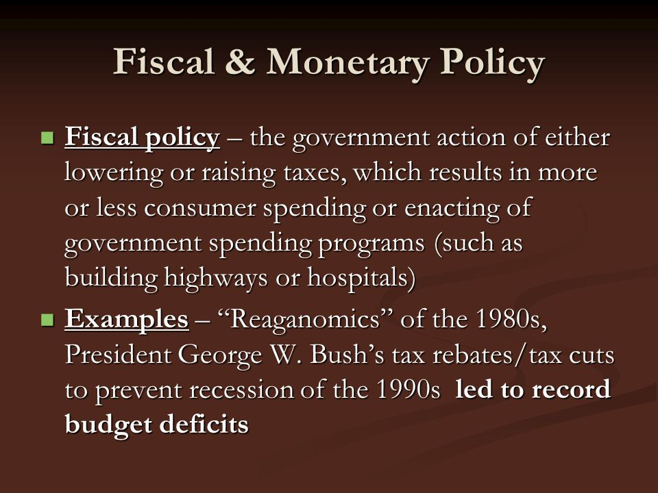 George w bush and fiscal policy