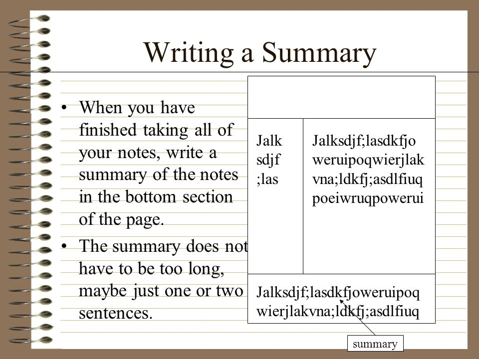 writing and summary Looking for a lesson plan for writing a movie summary read on for some advice about classroom planning and teaching summaries.