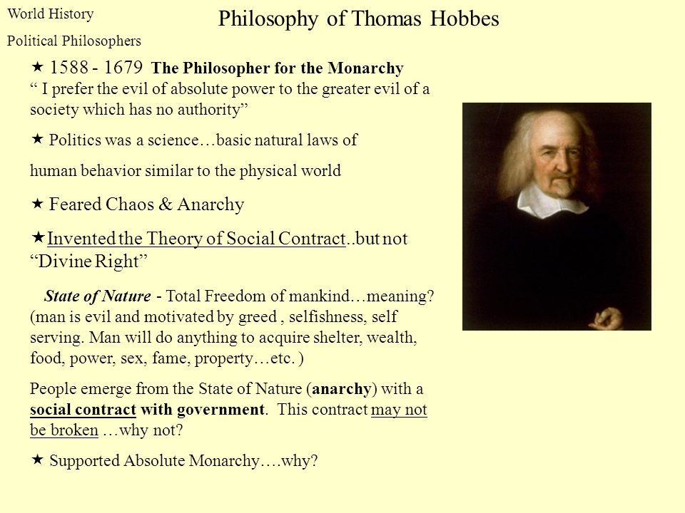 Philosophy of Thomas Hobbes