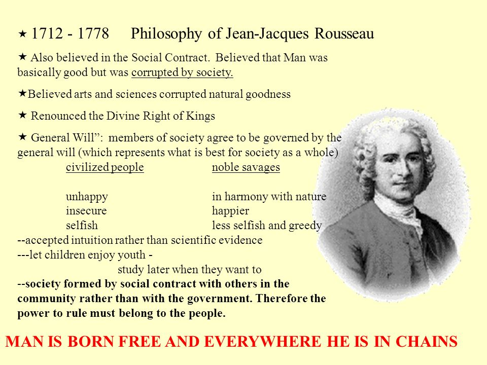 Philosophy of Jean-Jacques Rousseau