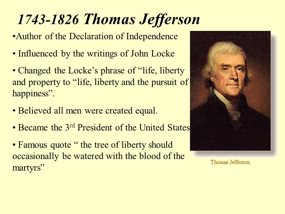 an examination of rousseaus influence on jeffersons declaration of independence Need writing essay about the problem of women thomas jeffersons declaration of independence is an impactful document with a written rousseaus opinion of.