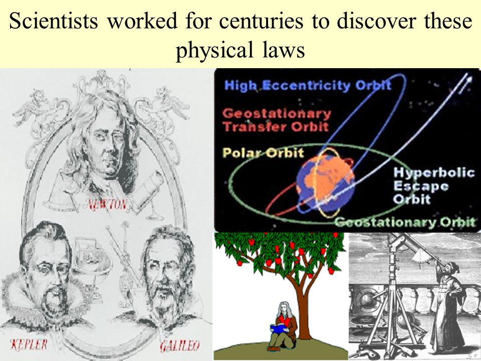 Scientists worked for centuries to discover these physical laws