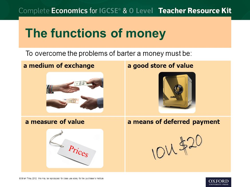 economics the functions of money However, anything can act as money as long as it serves its three main functions early forms of money were silver and gold coins money was introduced in order to make economic transactions efficient and simple.