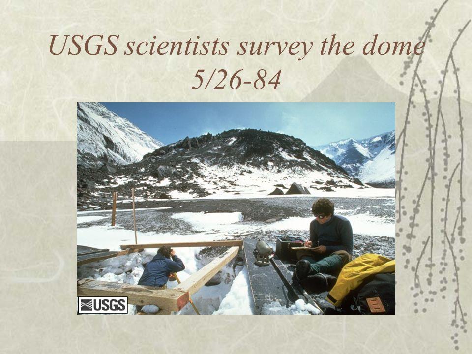 USGS scientists survey the dome 5/26-84