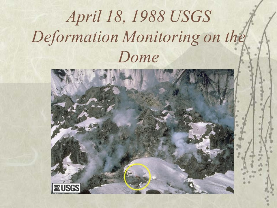 April 18, 1988 USGS Deformation Monitoring on the Dome