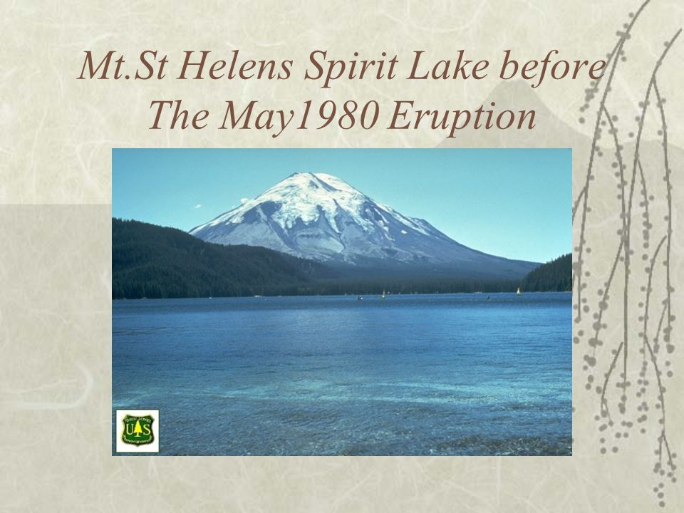 Mt.St Helens Spirit Lake before The May1980 Eruption
