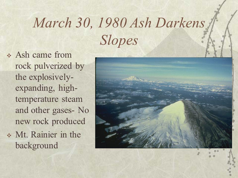 March 30, 1980 Ash Darkens Slopes